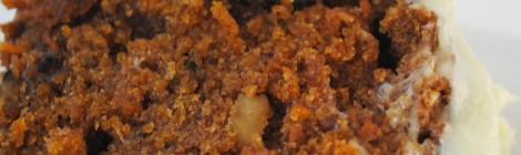 Carrotcake met limoen kokos topping